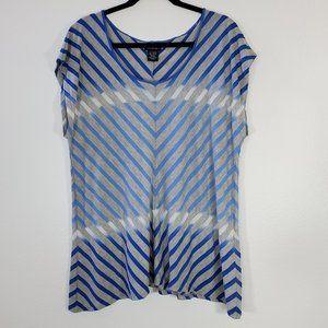Calvin Klein Jeans Ombre Blue Top